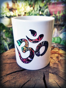 Om Ganesha Watercolor Yoga Coffee Mug - Succulent Treasure