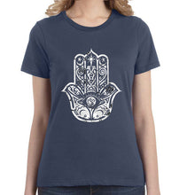 Hamsa Distressed Graphic Women's Tee - Succulent Treasure