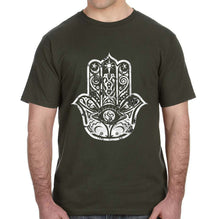 Hamsa Distressed Graphic Adult Unisex Shirt - Succulent Treasure