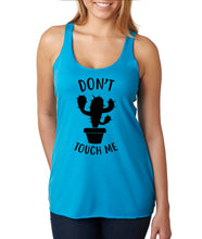 Don't Touch Me Cactus Racerback Tank Top - Succulent Treasure