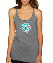 Echeveria Succulent Racerback Tank Top Triblend for Women - Succulent Treasure