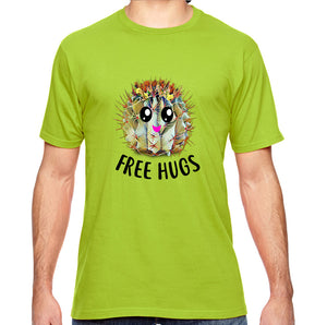 Free Hugs Cactus Adult Unisex Shirt - Succulent Treasure