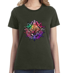 Ganesha Lotus Graphic Women's Tee - Succulent Treasure