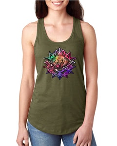 Ganesha Lotus Graphic Racerback Tank - Succulent Treasure