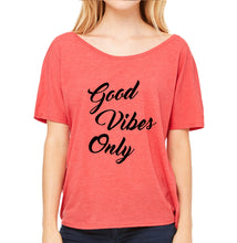 Good Vibes Only Flowy Dolman Slouchy Tee - Succulent Treasure