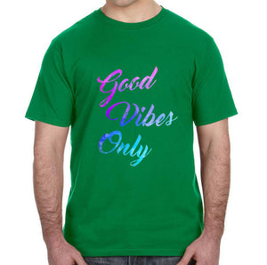 Good Vibes Only Watercolor Graphic Adult Unisex Shirt - Succulent Treasure