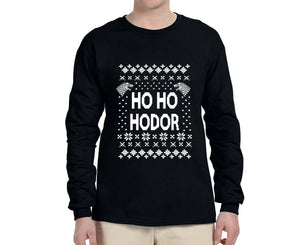 Ho Ho Hodor Ugly Christmas Sweater Longsleeve - Succulent Treasure