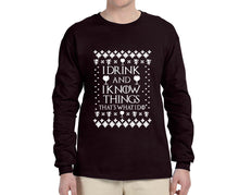 I Drink and I Know Things Ugly Christmas Sweater Longsleeve - Succulent Treasure