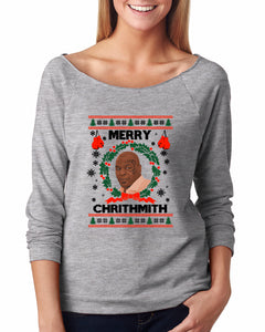 Merry Chrithmith Ugly Christmas Sweater Raglan - Succulent Treasure