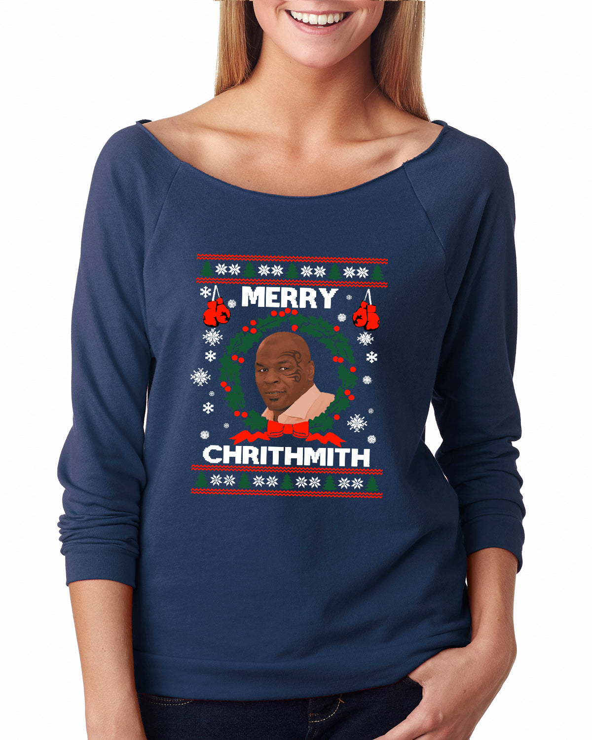 merry chrithmith ugly christmas sweater raglan succulent treasure - Merry Christmas Mike Tyson