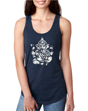 Om Ganesha Distressed Graphic Racerback Tank - Succulent Treasure