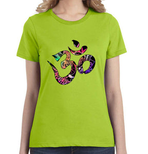 Om Watercolor Graphic Women's Tee - Succulent Treasure