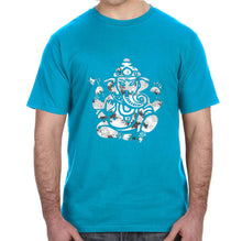 Om Ganesha Distressed Graphic Adult Unisex Shirt - Succulent Treasure