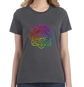 Om Mandala Graphic Women's Tee - Succulent Treasure
