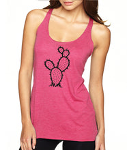 Prickly Pear Cactus Racerback Tank Top - Succulent Treasure