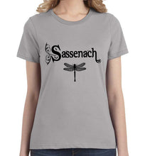 Sassenach with Dragonfly Women's Tee Shirt - Succulent Treasure