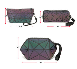Luminesk Mini Holographic Cosmetic Makeup Rainbow Handbag ON SALE NOW - Succulent Treasure