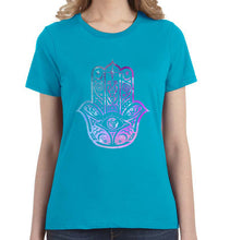 Hamsa Watercolor Graphic Women's Tee - Succulent Treasure