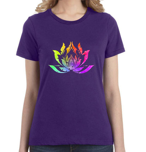 Lotus Watercolor Graphic Women's Tee - Succulent Treasure