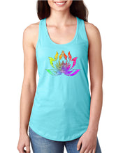 Lotus Watercolor Graphic Racerback Tank - Succulent Treasure