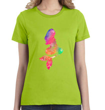 Mermaid Watercolor Graphic Women's Tee - Succulent Treasure