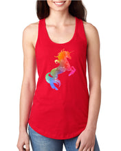 Watercolor Unicorn Women's Racerback Tank - Succulent Treasure
