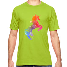 Unicorn Watercolor Graphic Adult Unisex Tee Shirt - Succulent Treasure