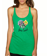 You Succ! Racerback Tank Top - Succulent Treasure