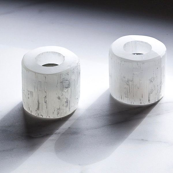 SELENITE CANDLE HOLDERS