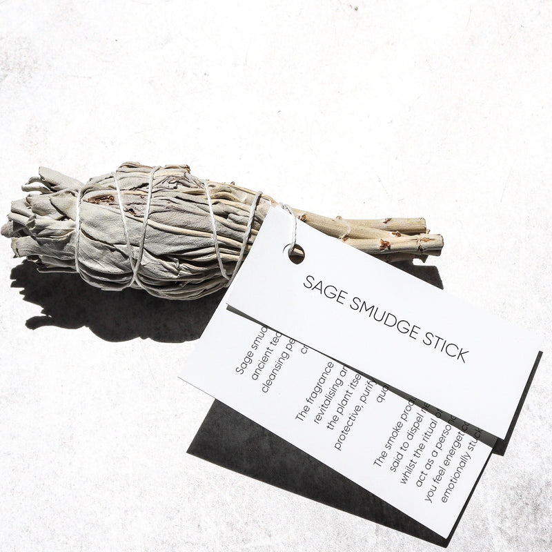 WHITE SAGE SMUDGE STICK : SMALL