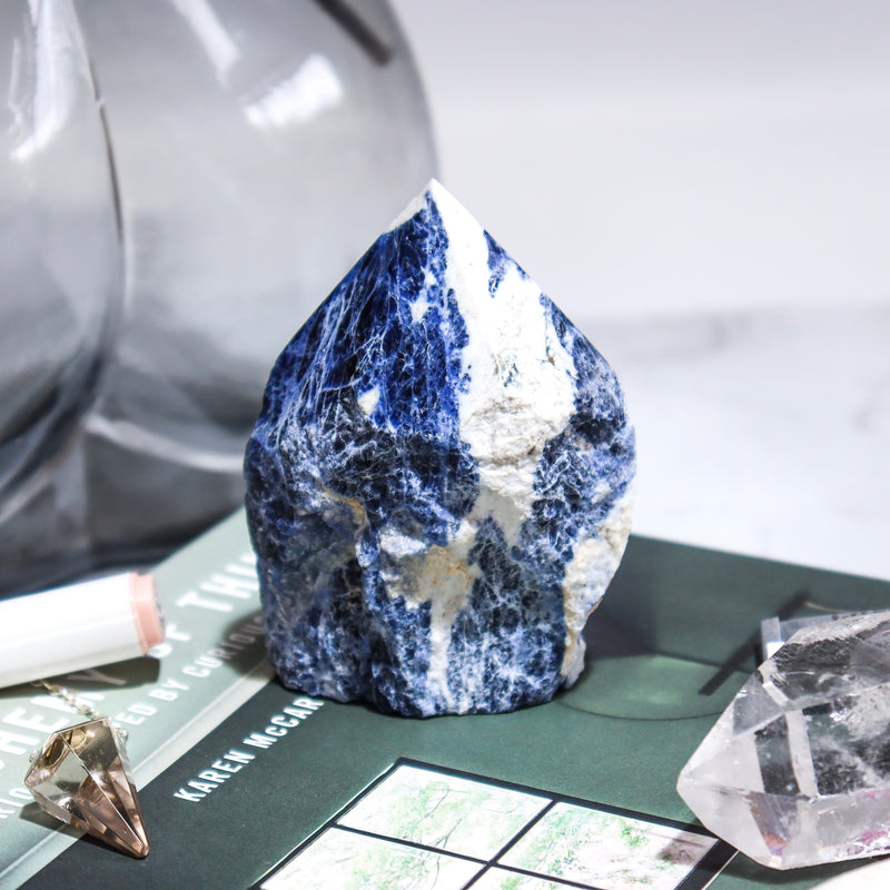 SODALITE POLISHED POINT 1