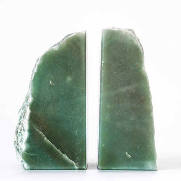 GREEN AVENTURINE BOOKENDS 1
