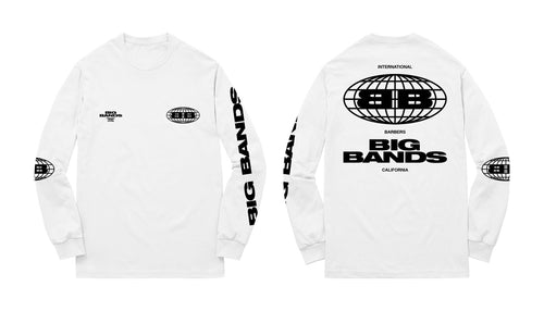 Big Bands International Long Sleeve Shirt White & Black