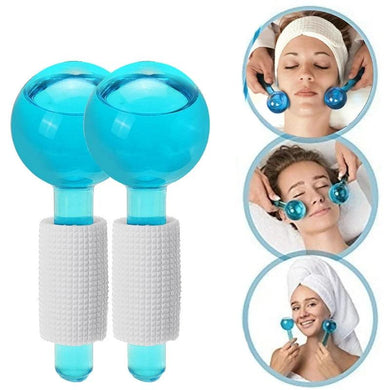 2pcs/ Crystal Ball Facial Cooling Ice Globes  For Face and Eye Massage