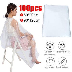 100Pcs Waterproof Disposable Haircutting Cape