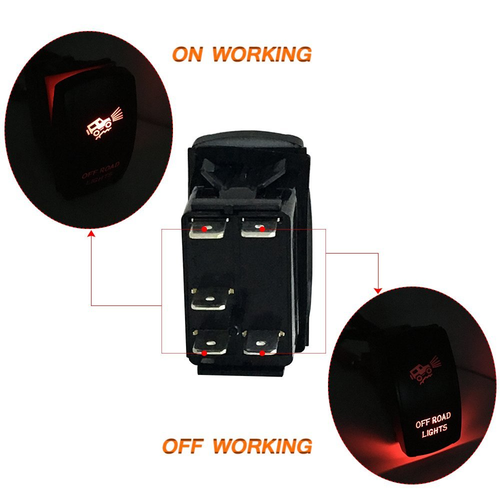 Firebug Led Off Road Lights Laser Rocker Switch Red Firebugmoto With Legend Offroad