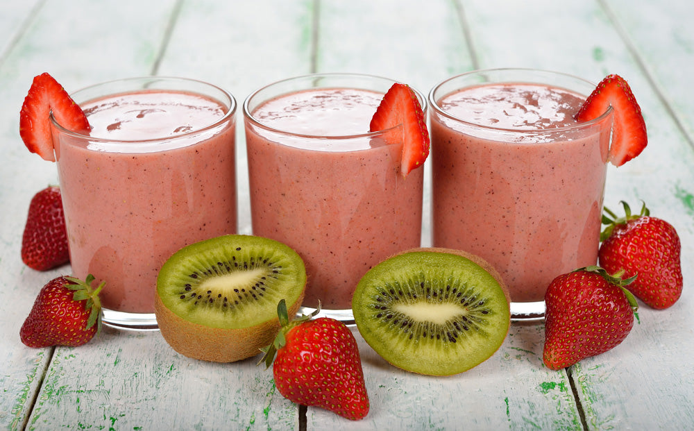 STONE NATURAL MEDICINE NATURAL RECIPE KIWI STRAWBERRY SMOOTHIE