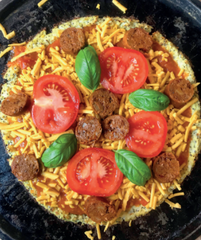 Vegan Cauliflower Crust Pizza