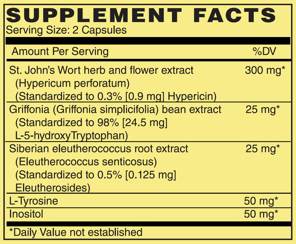NOW Foods Mood Support Supplements facts | Stone Natural Medicine