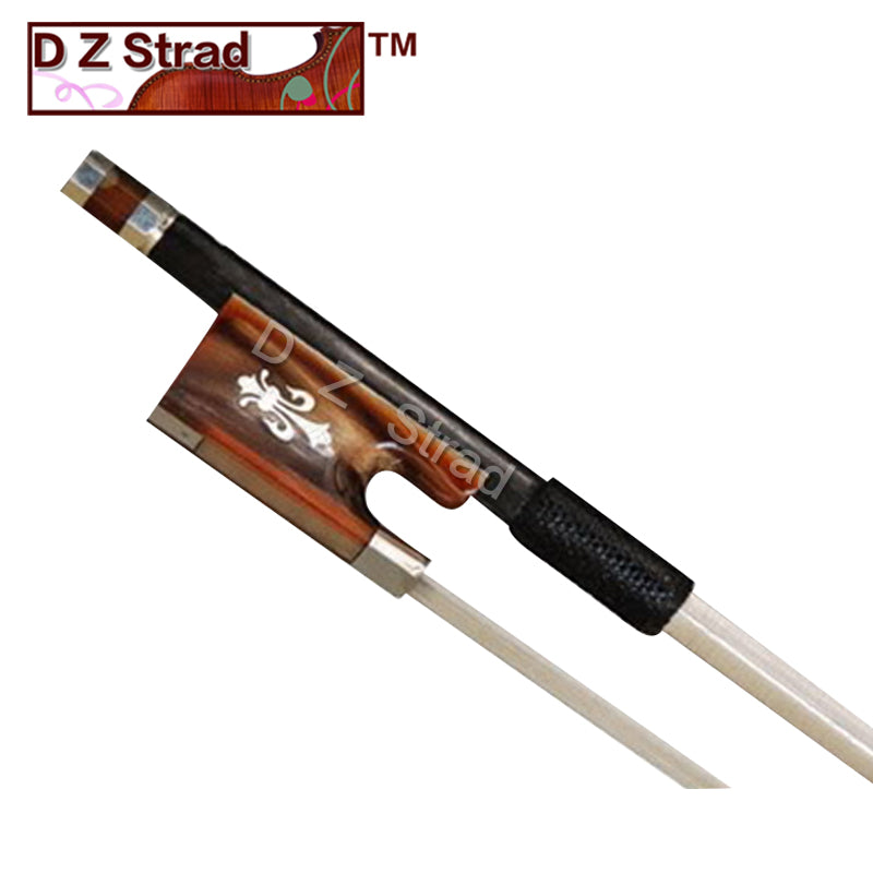 D Z Strad Violin Bow - Model 601 - Carbon Fiber Bow with Ox Horn Fleur-de-Lis Frog