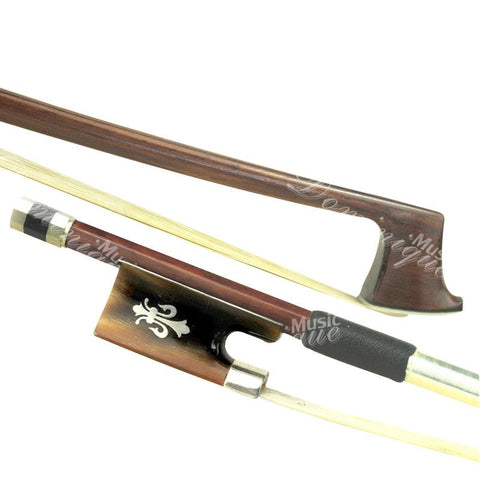 D Z Strad Violin Bow - Model 301 - Brazil Wood Bow with Ox Horn Frog and Fleur-de-Lis Inlay