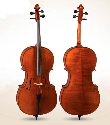 D Z Strad Cello Model 400 w/ Case & Bow (1/4-4/4)
