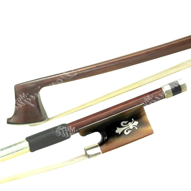 D Z Strad Violin Bow - Model 524 - Brazilwood Bow with Ox Horn Frog and Fleur-de-Lis Inlay