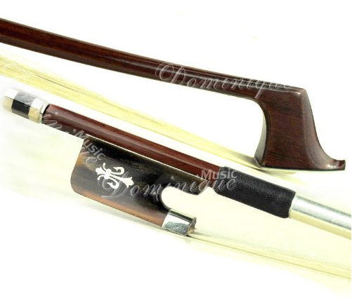 D Z Strad Cello Bow - Model 525 - Brazilwood Bow with Ox Horn Frog and Fleur-de-lis Inlay