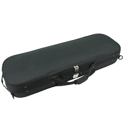 D Z Strad Violin Case - Black Oblong w/ Stitched Logo (4/4)