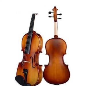 D Z Strad Violin Model 100 with Solid Wood 4/4 Full Size with Case, Bow, and Rosin (full-size)