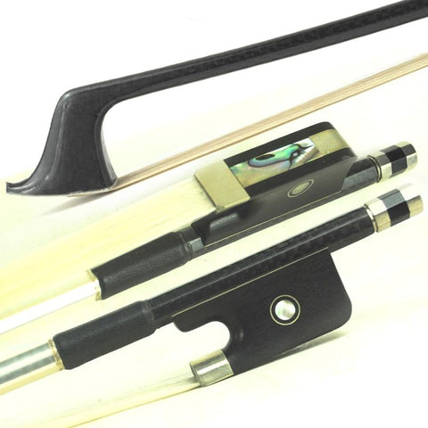 D Z Strad Double Bass Bow - Model 622 - Braided Carbon Fiber Bow with Ebony Parisian Eye Frog (French Style)