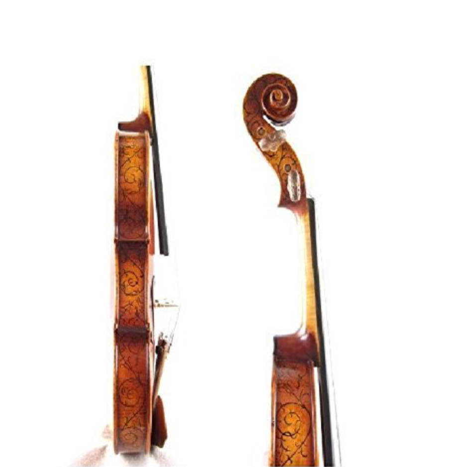 D Z Strad Violin - Model 505F - Hellier Stradivarius Advanced Masterpiece Copy - Full Size (4/4)