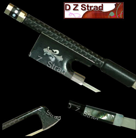 D Z Strad Violin Bow - Model 303 - Carbon Fiber Bow with Ebony Fleur-de-Lis Frog