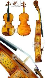 D Z Strad Violin - Model 302 - Hellier Stradivarius Masterpiece Copy - Full Size (4/4)
